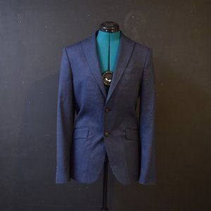 Men's Zara Blue Navy Blazer Jacket